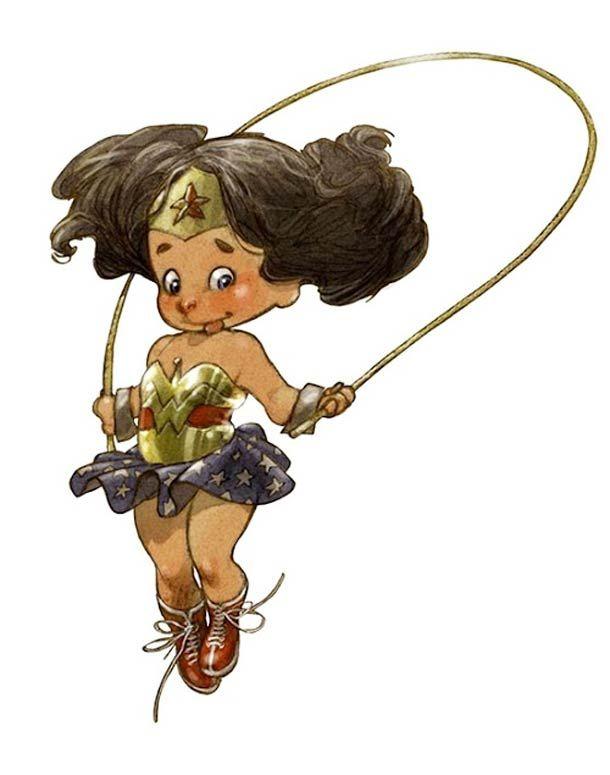 LITTLE HEROES – LES BÉBÉS SUPER-HÉROS D'ALBERTO VARANDA - WonderBabyGirl #WonderWoman #superheros #superbabies