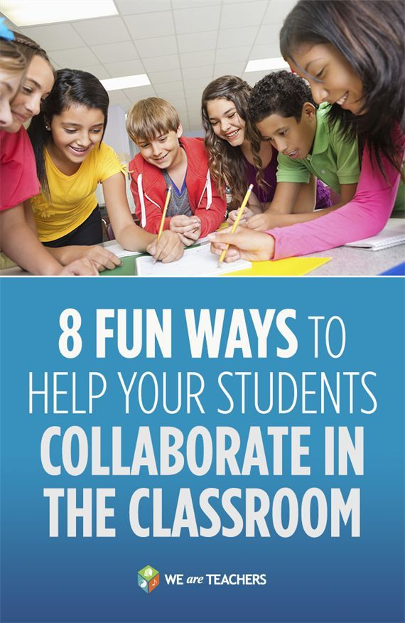 8 Fun Ways to Help Your Students Collaborate in the Classroom. My kids do so much better when I give them time to work together on things. I think they would love idea number 3.