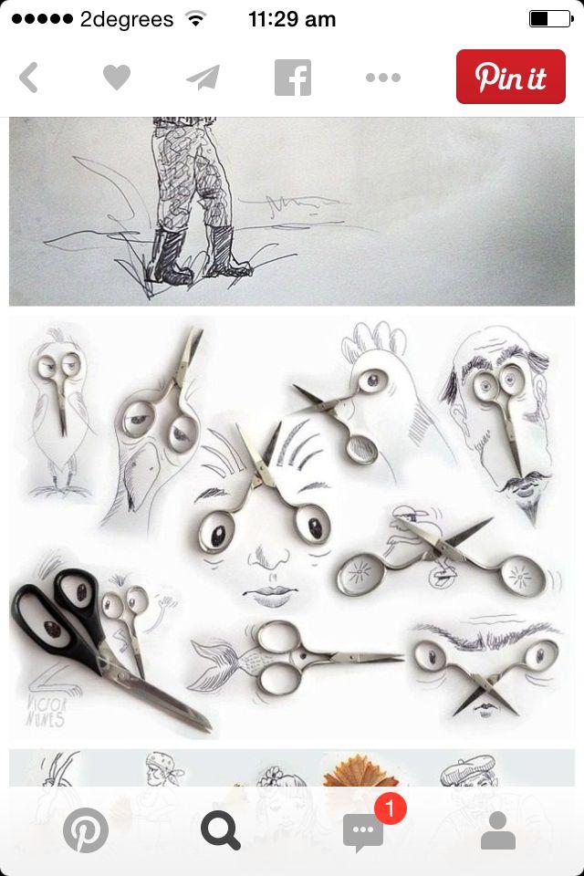 Scissor drawing