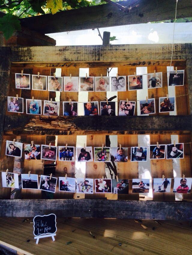 Panel de fotos: Recuerdos del primer cumpleaños de Santi.