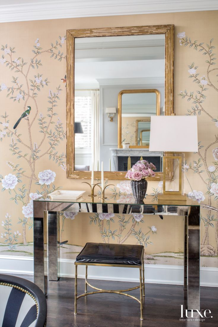 From Luxe Interiors + Design · In The Entry Of Designer Wendy Labrumu0027s  Chicago Home, The Walls Are Covered With Hand