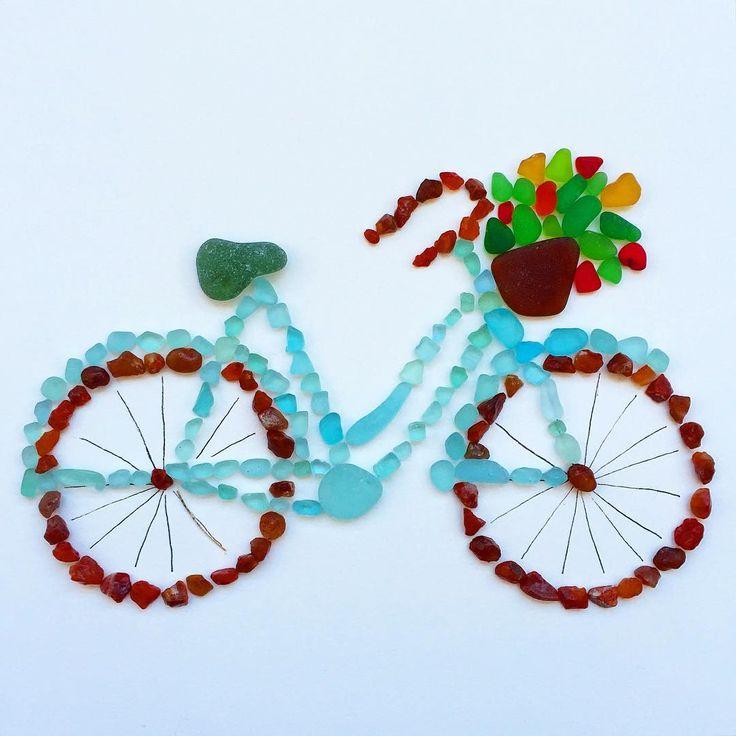 {beach bike in sea glass}                                                       …                                                                                                                                                                                 More