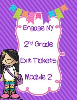 I have made these Exit Tickets from Engage NY. The problems are two per page to…