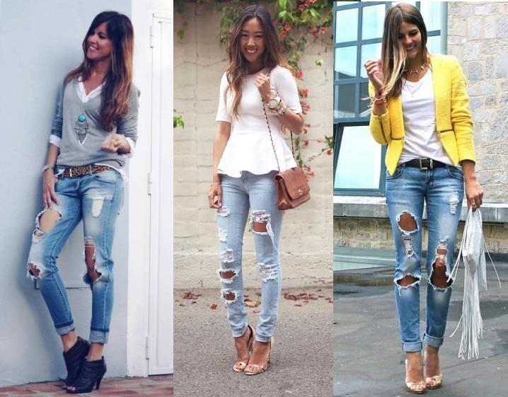 Moda jean roto!!
