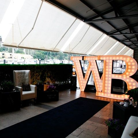 Oversized letter lights for Warner Bros launch in Sydney 2013. Made and designed by Fromage la Rue http://www.fromagelarue.com.au/gallery