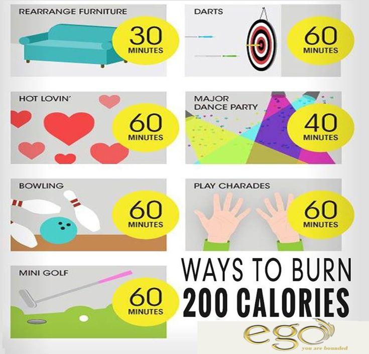 Ways to burn 200 Calories.