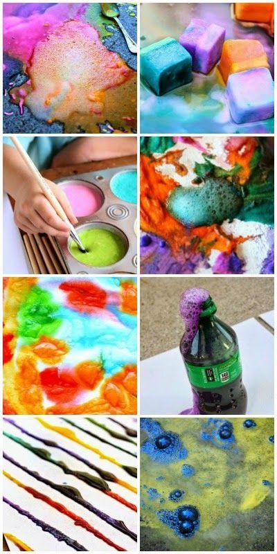 12 genius paint recipes that pop and fizz, creating beautiful art eruptions kids will love!