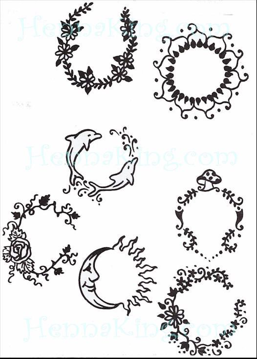 Circle henna 39 s belly button henna pinterest belly for Simple designs on paper