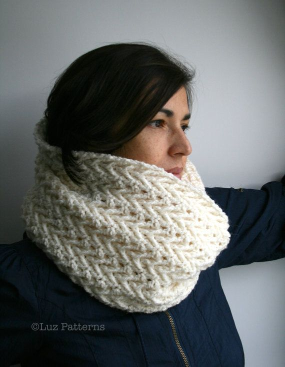 Crochet patterns, girl and women lace cowl pattern, scarf crochet pattern, crochet cowl pattern (118)