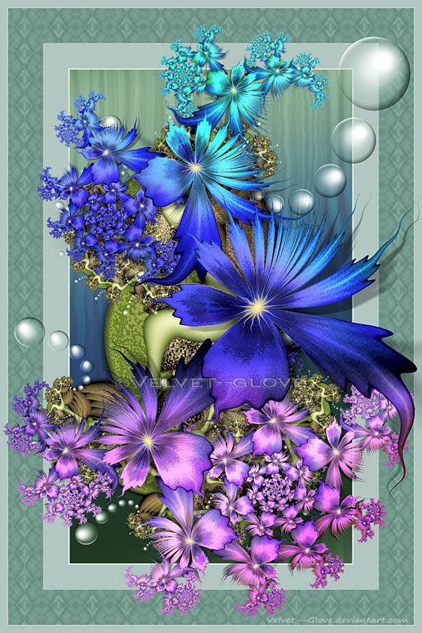 Iridescent Blooms by =Velvet--Glove on deviantART