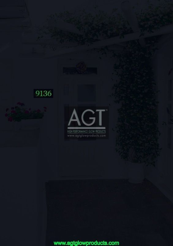 AGT Glowing house numbers - Emerald - Night_9651