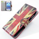Flag Shell Leather Flip Wallet Card Cover Case For Samsung Galaxy Ace 3 S7272