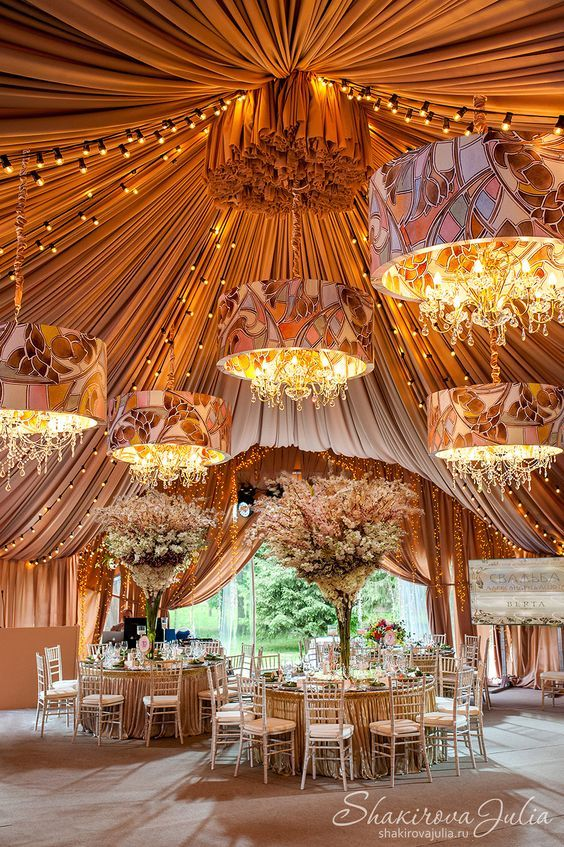 beautiful wedding and event tent lighting ????? ??? - Shakirova Julia & 145 best Wedding Tents u0026 Drapes with Style images on Pinterest ...