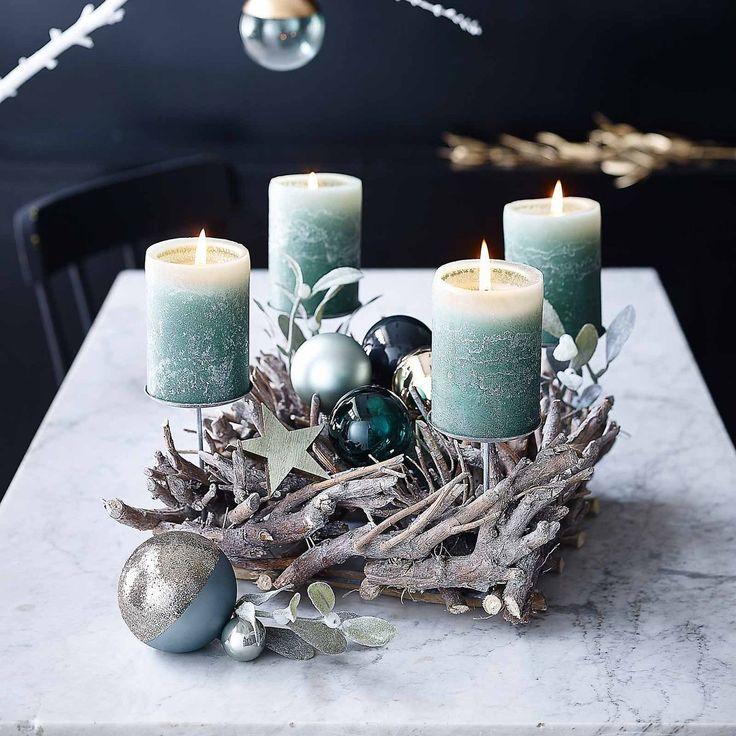 adventskranz ste ca d 35 x h 15cm grau christmas pinterest ast grau und weihnachten. Black Bedroom Furniture Sets. Home Design Ideas