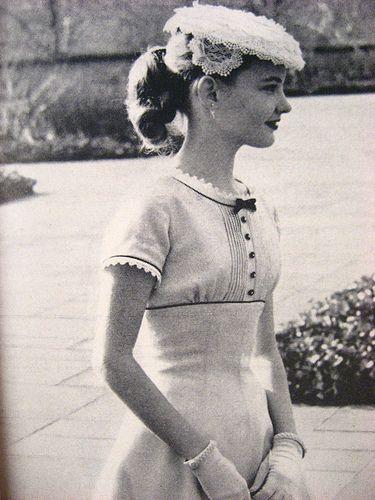 1950's empire waist dress
