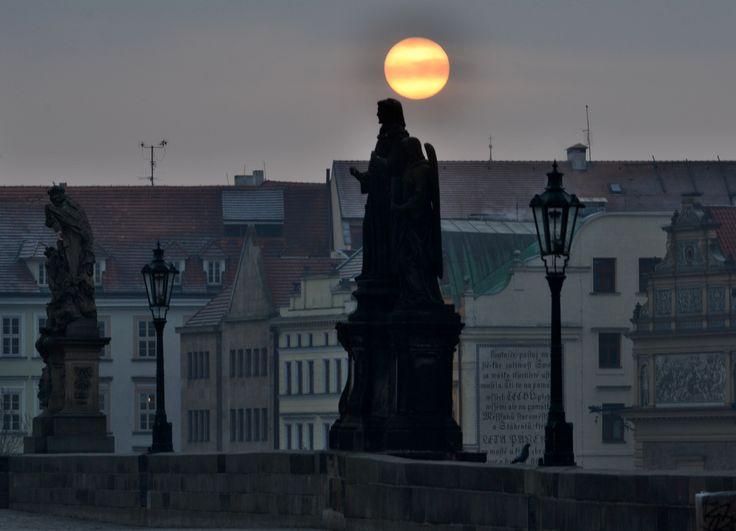 Mrazivé ráno v Parze, Frosty morning in Prague