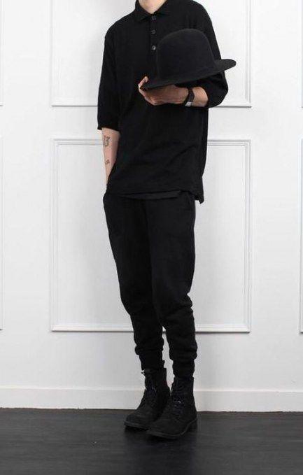 21+ trendige Mode Teenager schwarz