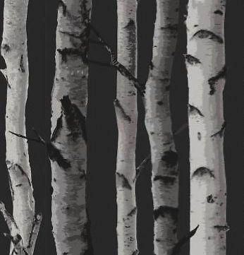 Nordik Black White Brown White Twig Wallpaper Super Unique | eBay