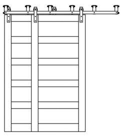 best 10 barn door track system ideas on pinterest screen door hardware sliding barn door track and diy door instalation - Bypass Barn Door Hardware