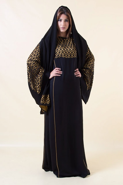 Dubai Abaya Collection 2013 | Emirati Abaya Hijab Fashion 2013-2014
