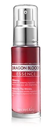 [Secret Key] Dragon Bloody Essence 30ml  [Description] Firming the skin : Contained Croton Lechleri Resin Extract, alias Dragon's Blood. It has an effect of firming the skin and caring the wrinkle caused by dryness, tiredness and change of the skin. •Whitening and Wrinkle Improvement (Dual functionality) : It is a dual functional essence. Adenosine helps to improve wrinkle. Niacinamide inhibits producing melanin in the skin so it helps to maintain your skin clean and clear.
