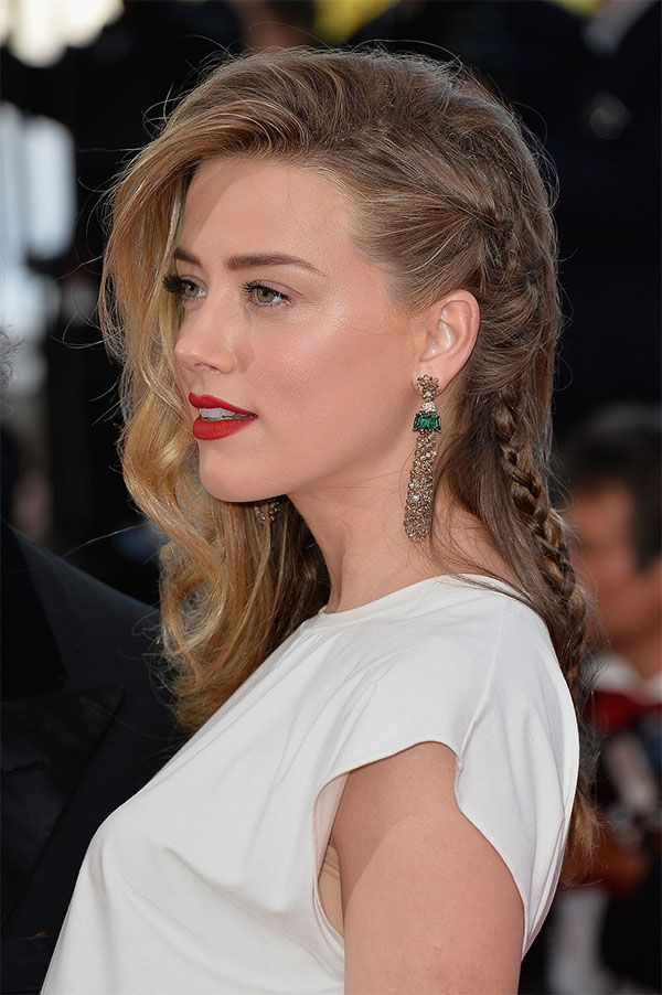 Love this braid on Amber Heard (at Cannes film festival)