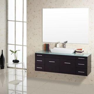 virtu usa biagio 56inch single sink bathroom vanity set by virtu usa