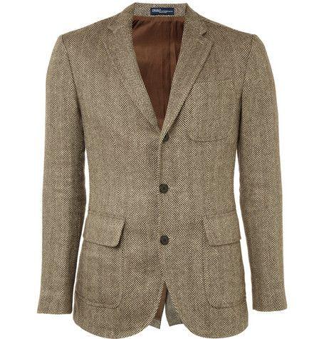 Polo Ralph LaurenTweed Three Button Blazer|MR PORTER ($500-5000) - Svpply: Light Pink Blazers, Fashion Men, Tweed Jackets, Polo Ralph Lauren, Men Fashion, Blazermr Porter, Buttons Blazers, Tweed Blazers, Lauren Tweed