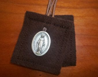 100% Wool Brown Scapular of Our Lady of Mt. by OurLadysWorkshop