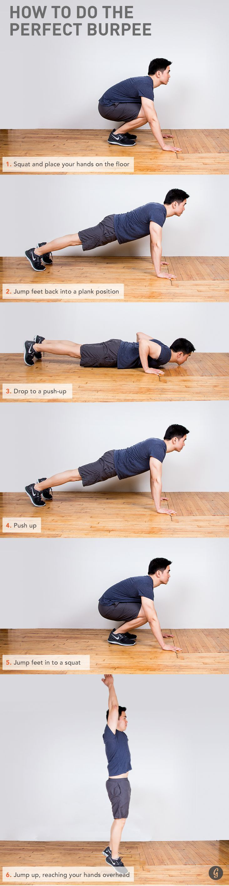 Step-by-step guide to the perfect Burpee #howto #guide #fitness