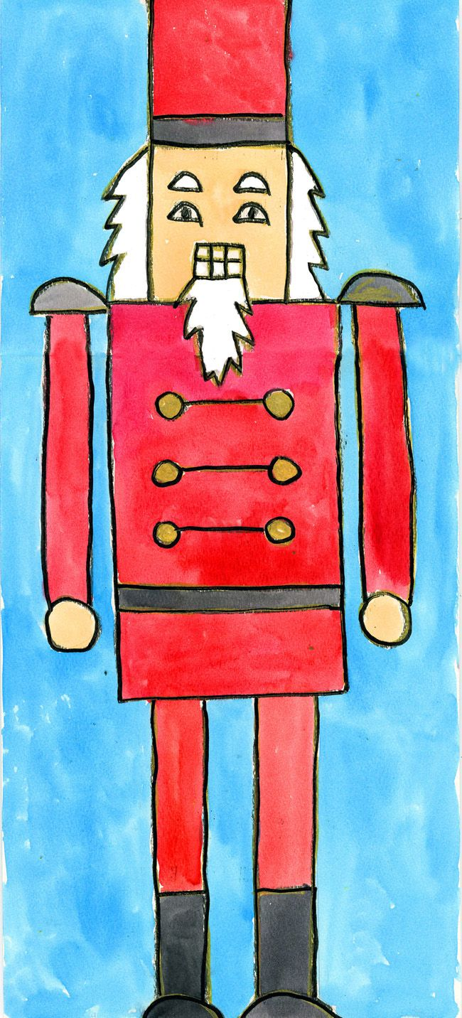 Art Projects for Kids: Nutcracker: Watercolor Painting