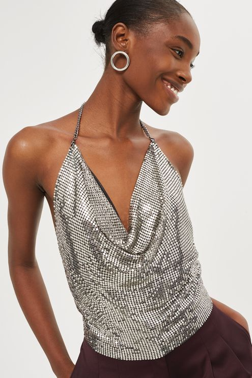 Chainmail Halter Neck Top