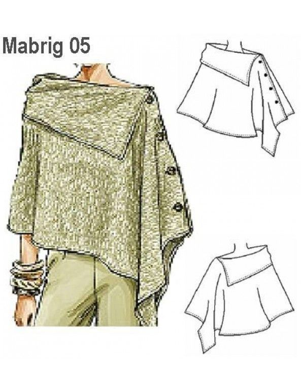 MOLDE: Mabrig 05 - Abrigos-Tapados - Moldes | Sewing | Pinterest ...
