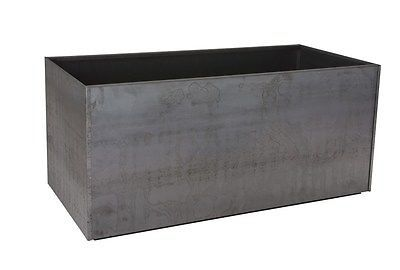 Trough Metal Corten Steel Planter Box Rust Extra Large Rectangle