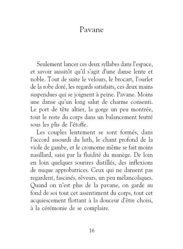 Les mots que j'aime, Philippe Delerm, extrait du mot Pavane