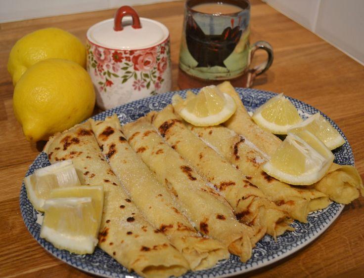 pancakes with lemon & sugar