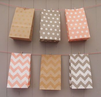 Stand Up Pastel Paper Bags Medium NOTHS / Cute bags for sweet pick and mix table.