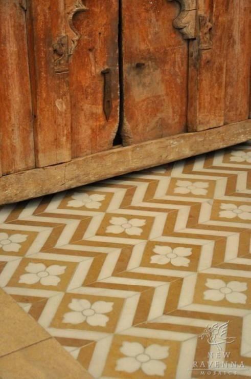 Maharaja kitchen floor, New Ravenna Mosaics
