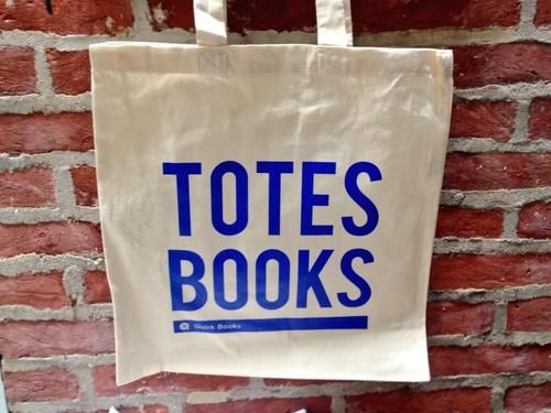 """LOVE this """"TOTES BOOKS"""" bag that Quirk Books will be handing out at BEA"""