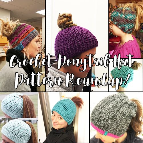 If you're looking for a crochet ponytail hat pattern, you're in luck. Here's a roundup of patterns!