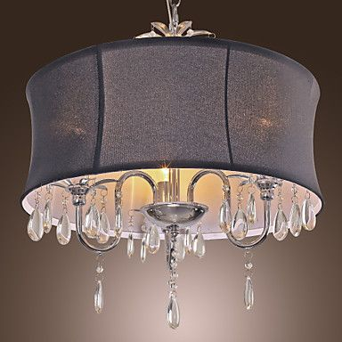 Elegant+Ceiling+Light+with+3+Lights+in+Black+Shade+–+USD+$+179.99