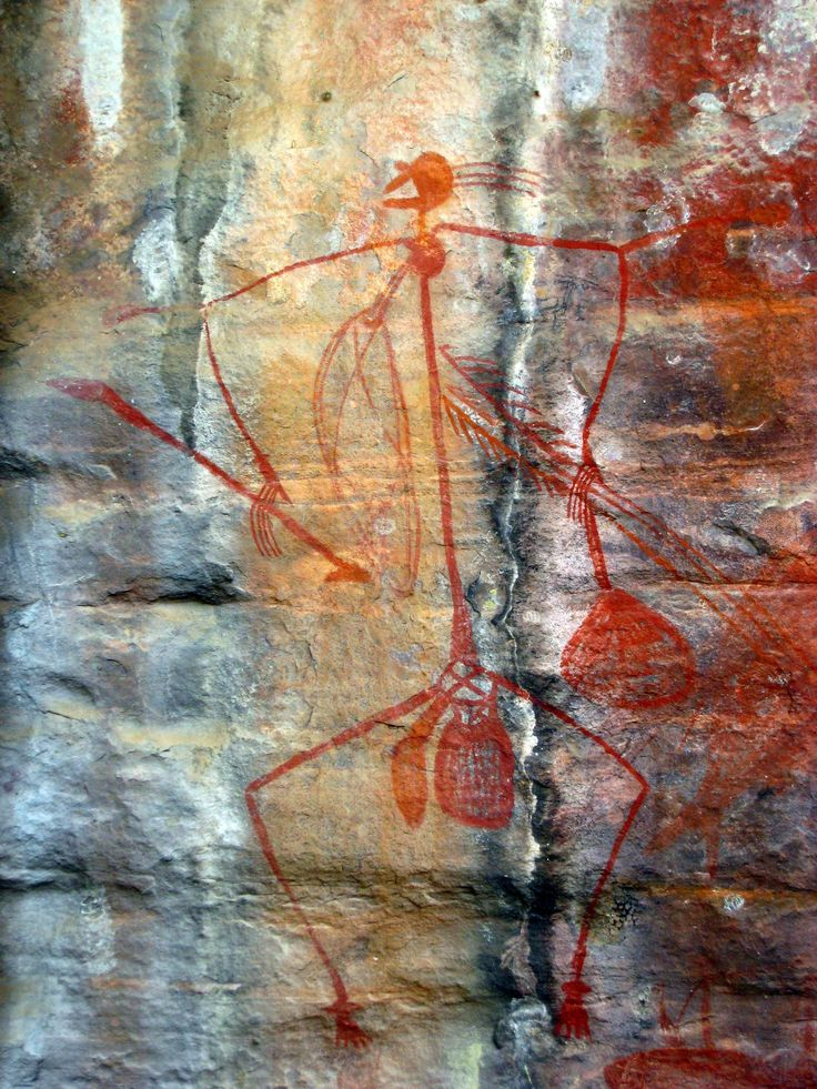 Rock Art Painting at Kakadu National Park in Darwin, #Australia