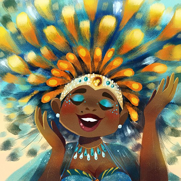 kinopia:  AUGUST ID! I decided to represent my West Indian background (Jamaican/Barbadian) and do an ID based on Caribana - the Caribbean Carnival that happens during the long weekend in August here in Toronto! This was a challenge but loads of fun working with a tighter colour palette!