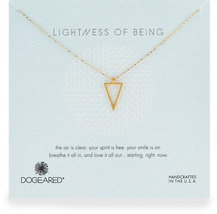 Dogeared Air Triangle Gold-Dipped Pendant Necklace