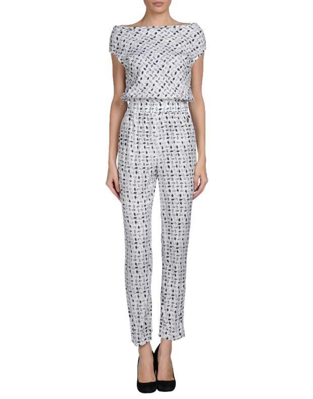 Ασπρόμαυρη ολόσωμη φόρμα με print