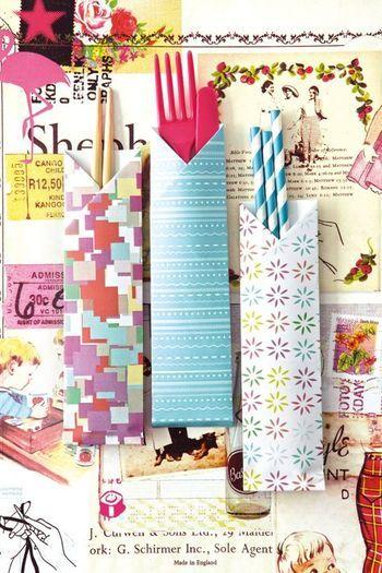 折り紙のパターンを変えてポップな印象にもできます。