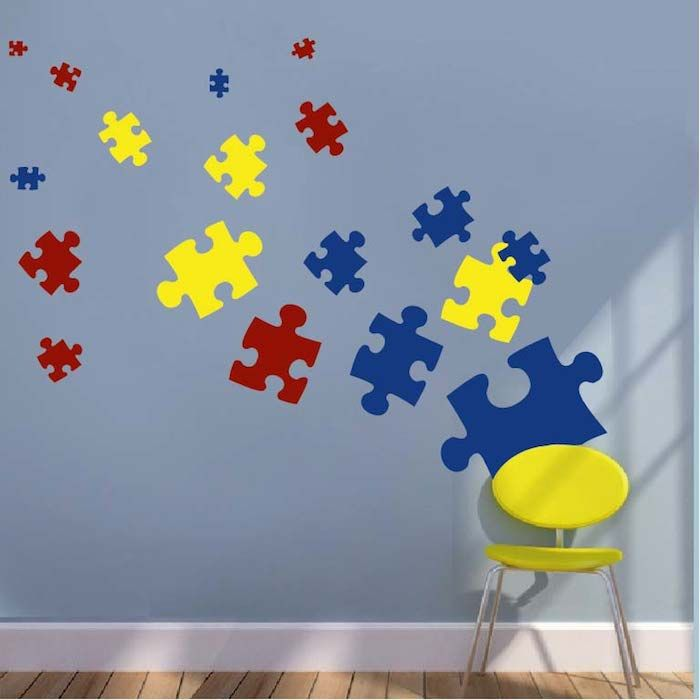 Puzzle Piece Wall Decals U0026 Kids Wall Decor From Trendy Wall Designs (obv  Not Primary Colors)