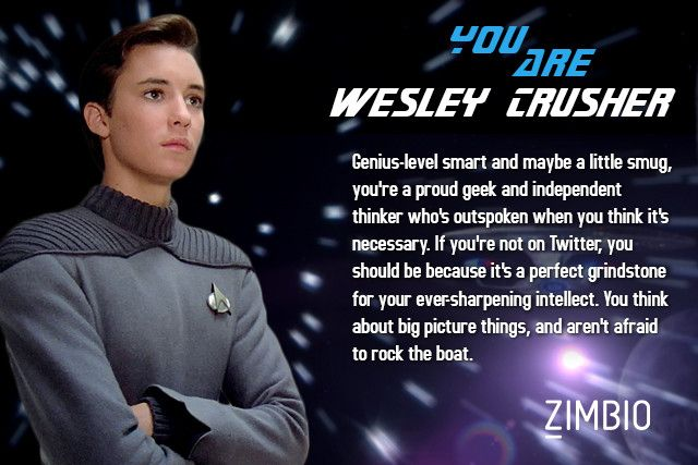 Star Trek Personality Wesley Crusher