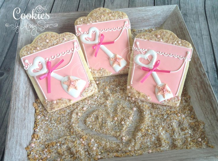 Pink Sand Buckets   Cookies by Missy Sue   Cookie Connection
