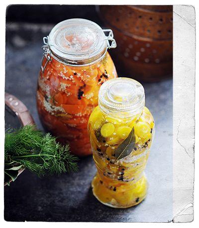 ingemaakte wortelen met mierikswortel